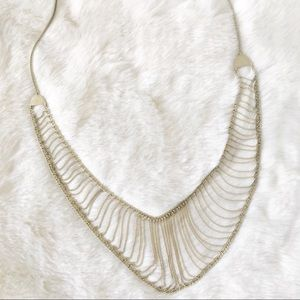 Lucky Brand Adjustable Gold Tone Chain Necklace